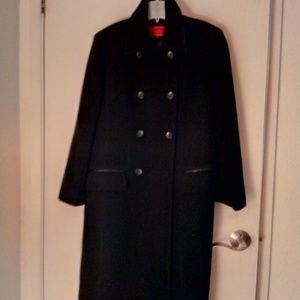 Double breasted women's wool coat